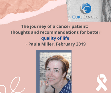 Paula Miller, February 2019, wished for the inclusion of electronic health in cancer care!