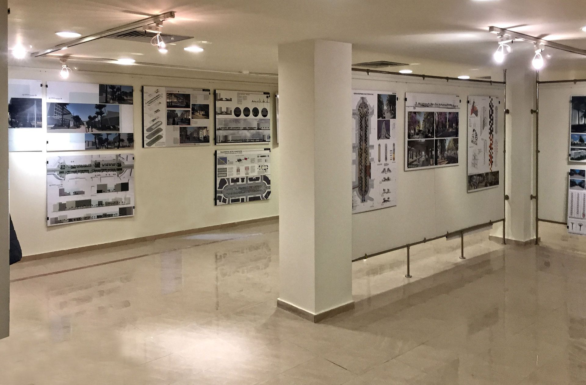Architecture exhibition for the development of the Gavriil Haritos square