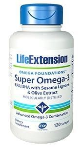 SUPER OMEGA-3 EPA/DHA with sesame lignans and olive fruit extract