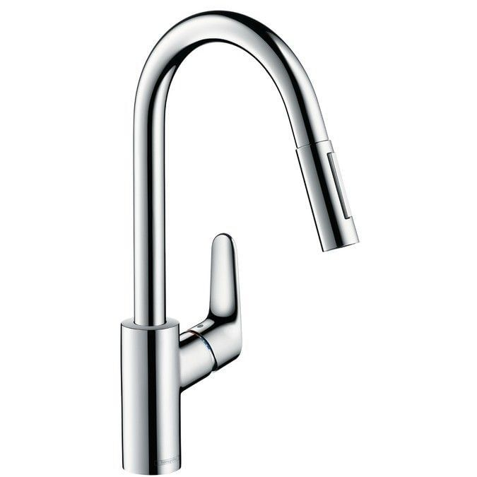 Focus Single lever kitchen mixer 240 with pull-out spray
