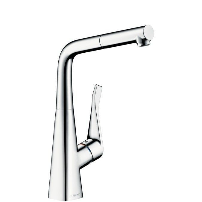 Metris Single lever kitchen mixer 320 with pull-out spout