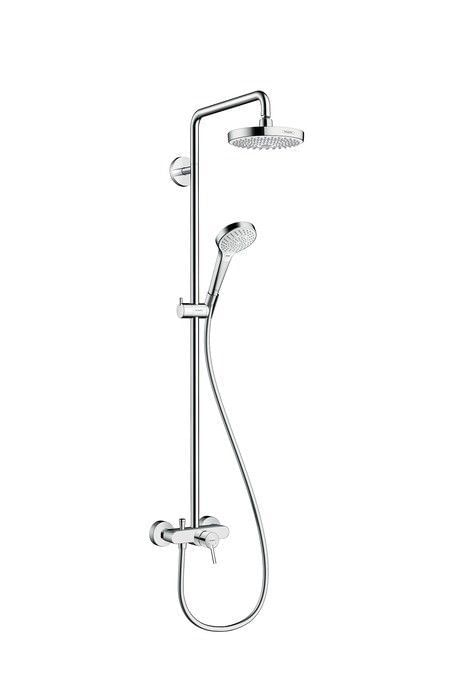 Croma Select S 180 2jet Showerpipe with single lever mixer