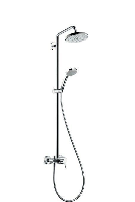 Croma 220 Air 1jet Showerpipe with single lever mixer