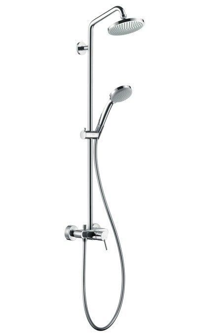 Croma 100 1jet Showerpipe with single lever mixer