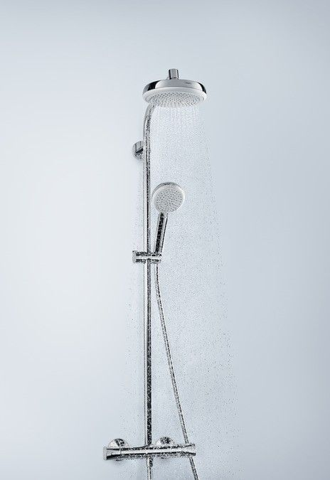 Crometta 160 1jet Showerpipe