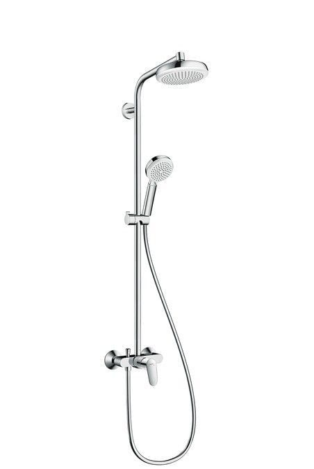 Crometta 160 1jet Showerpipe with single lever mixer