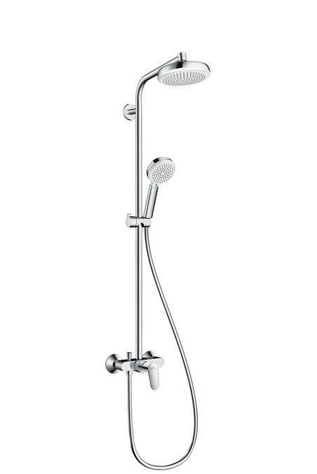 Crometta 160 1jet Showerpipe with single lever mixer