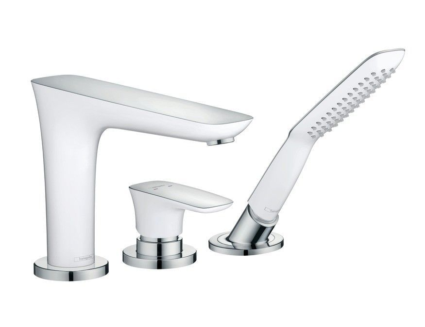 PuraVida 3-hole rim mounted single lever bath mixer