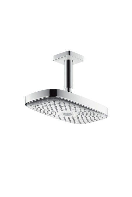 Raindance Select E 300 2jet Overhead Shower with ceiling connector, DN15