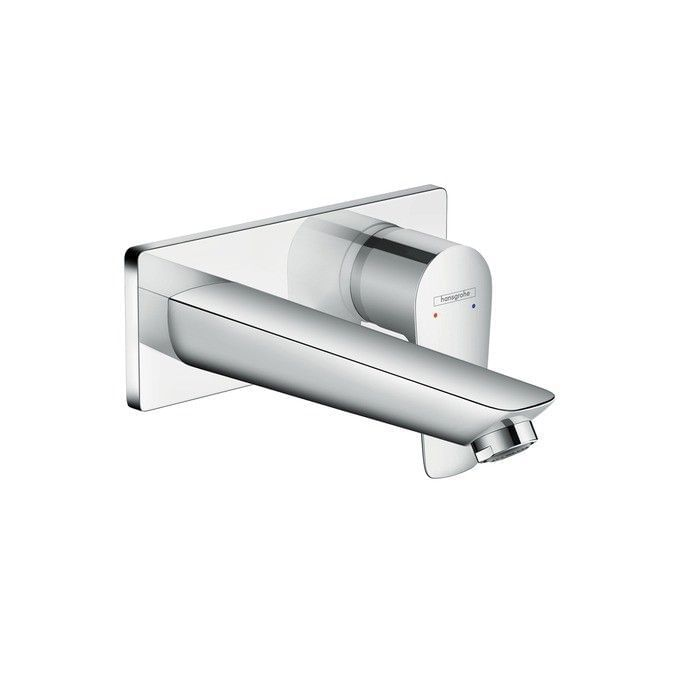Talis E Single lever basin mixer for concealed installation with spout 165 mm wall-mounted