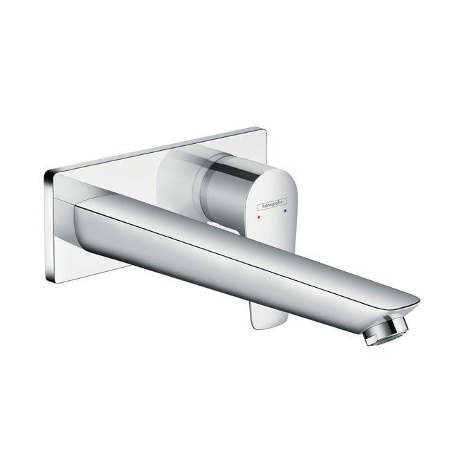 Talis E Single lever basin mixer for concealed installation with spout 225 mm wall-mounted