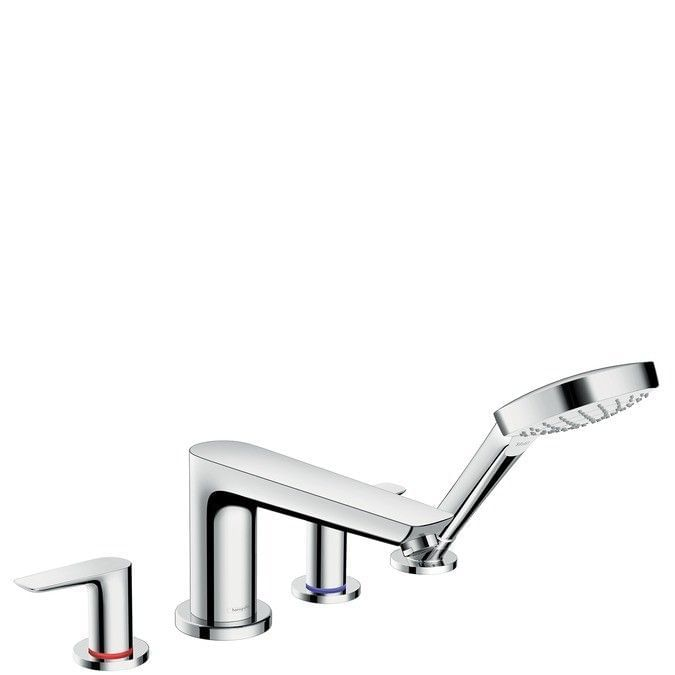 Talis E 4-hole rim mounted bath mixer