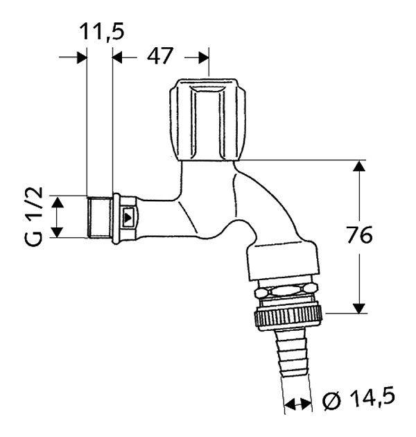 SCHELL COMFORT draw-off tap