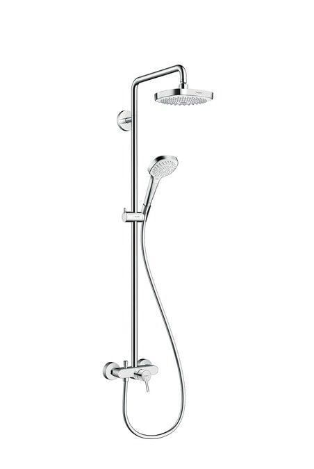 Croma Select E 180 2jet Showerpipe with single lever mixer