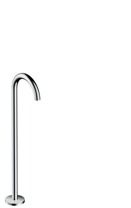 AXOR Uno Bath spout floor-standing curved