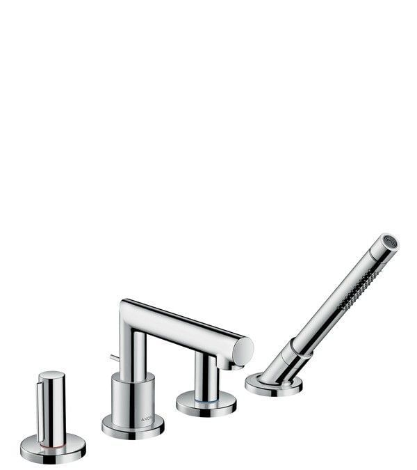 AXOR Uno 4-hole rim mounted bath mixer zero handle