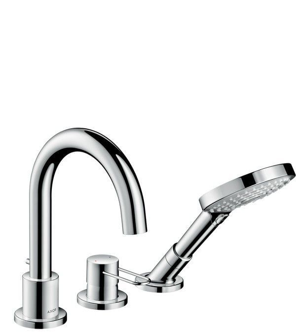 AXOR Uno 3-hole rim mounted bath mixer loop handle