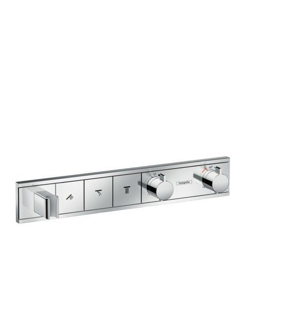 RainSelect Finish set for concealed installation for 3 functions