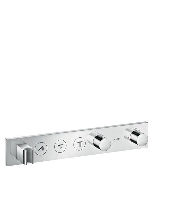 Thermostatic module Select 530/90 for 3 functions for concealed installation