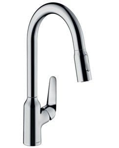 M429-H180 Single lever kitchen mixer with pull-out spray