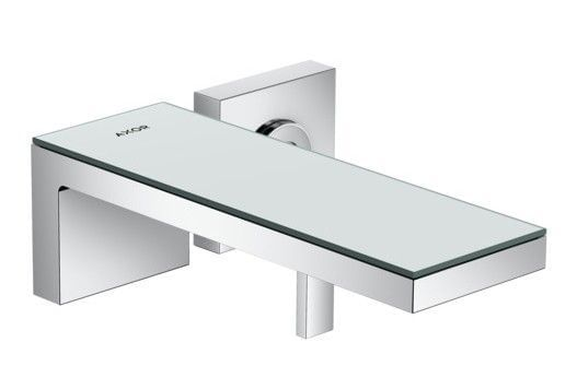 Single lever basin mixer for concealed installation wall-mounted