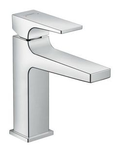 Metropol Single lever basin mixer 110 with lever handle and push-open waste set