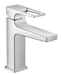 Metropol Single lever basin mixer 110 with loop handle and push-open waste set