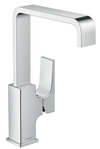 Metropol Single lever basin mixer 230 with lever handle and push-open waste set