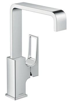 Metropol Single lever basin mixer 230 with loop handle and push-open waste set