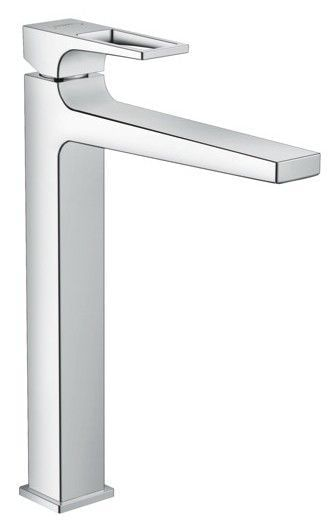 Metropol Single lever basin mixer 260 with loop handle for washbowls with push-open waste se