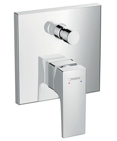 Metropol Single lever bath mixer for concealed installation with lever handle