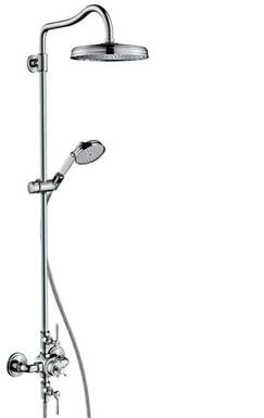AXOR Montreux Showerpipe with thermostat and overhead shower 240 1jet