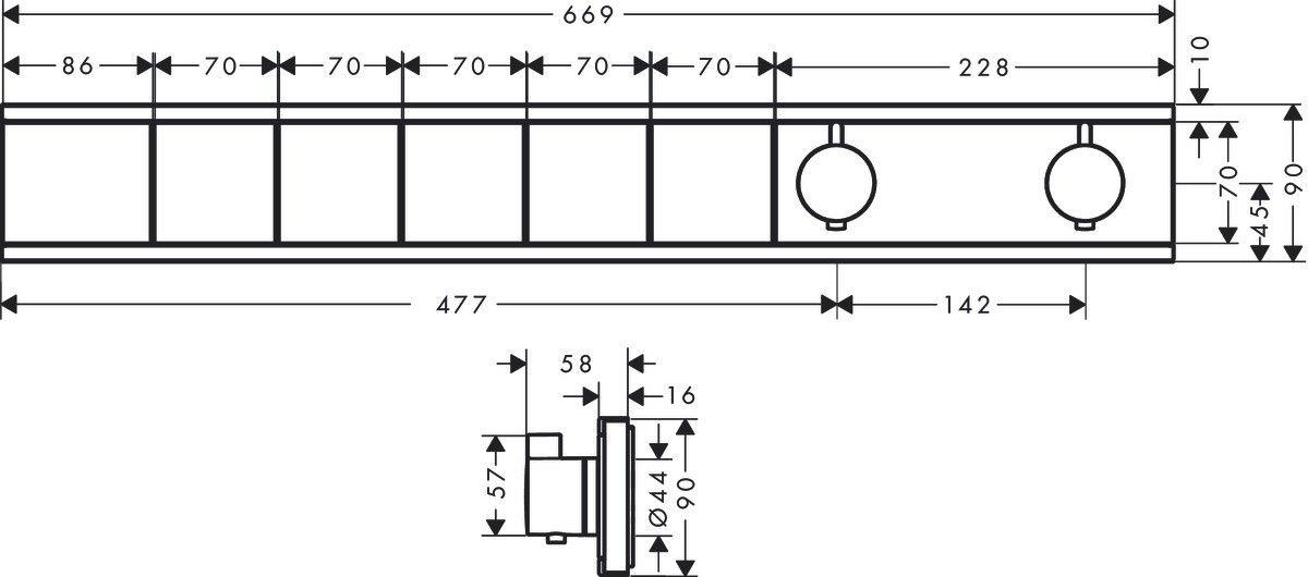 Rainselect Εντοιχισμένος Θερμοστάτης 5 σημείων