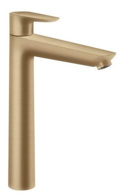 Talis E Brushed Bronze Single lever basin mixer 240 with pop-up waste set