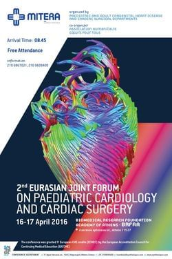 2nd Eurasian Joint Forum on Paediatric Cardiology & Cardiac Surgery 16-17 Απριλίου 2016