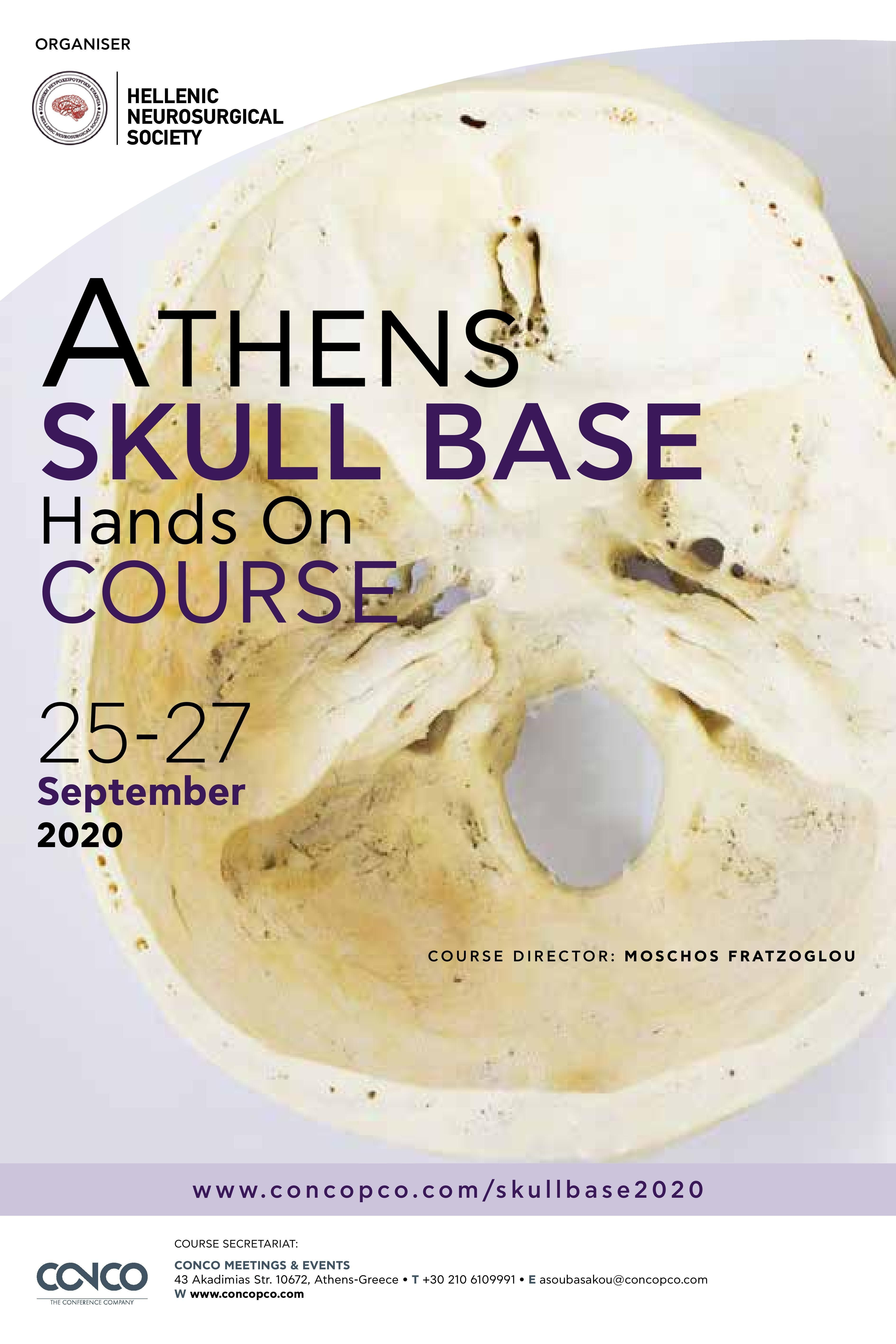 ATHENS SKULL BASE HANDS ON COURSE