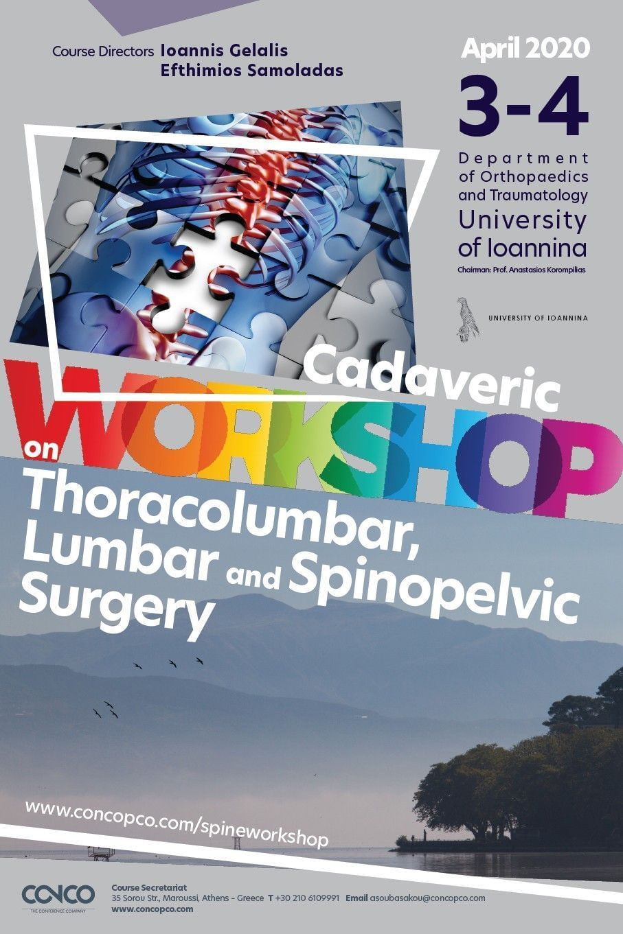 CADAVERIC WORKSHOP ON THORACOLUMBAR, LUMBAR AND SPINOPELVIC SURGERY