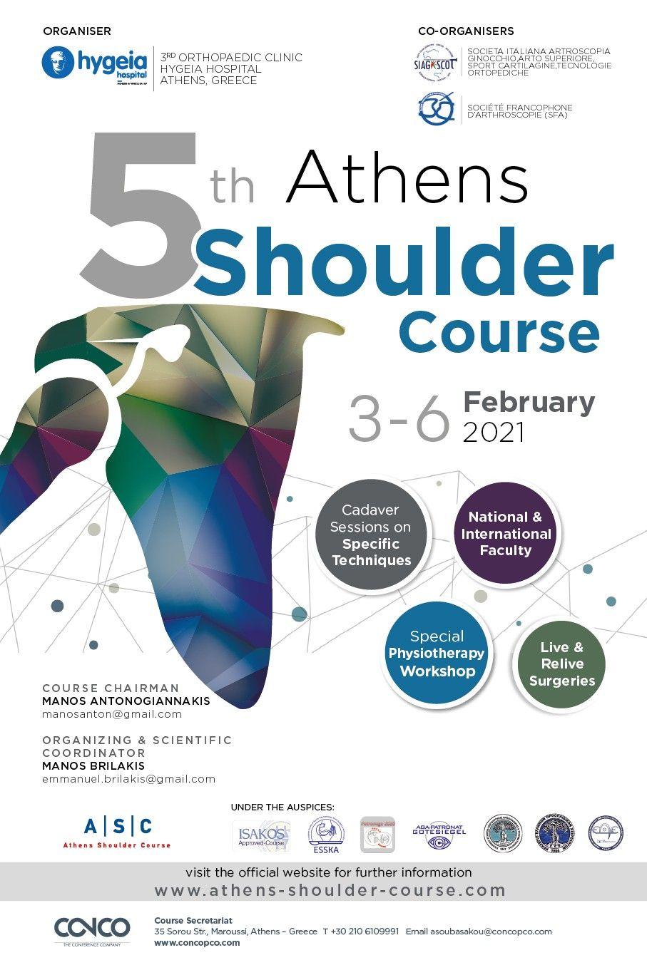 5th ATHENS SHOULDER COURSE
