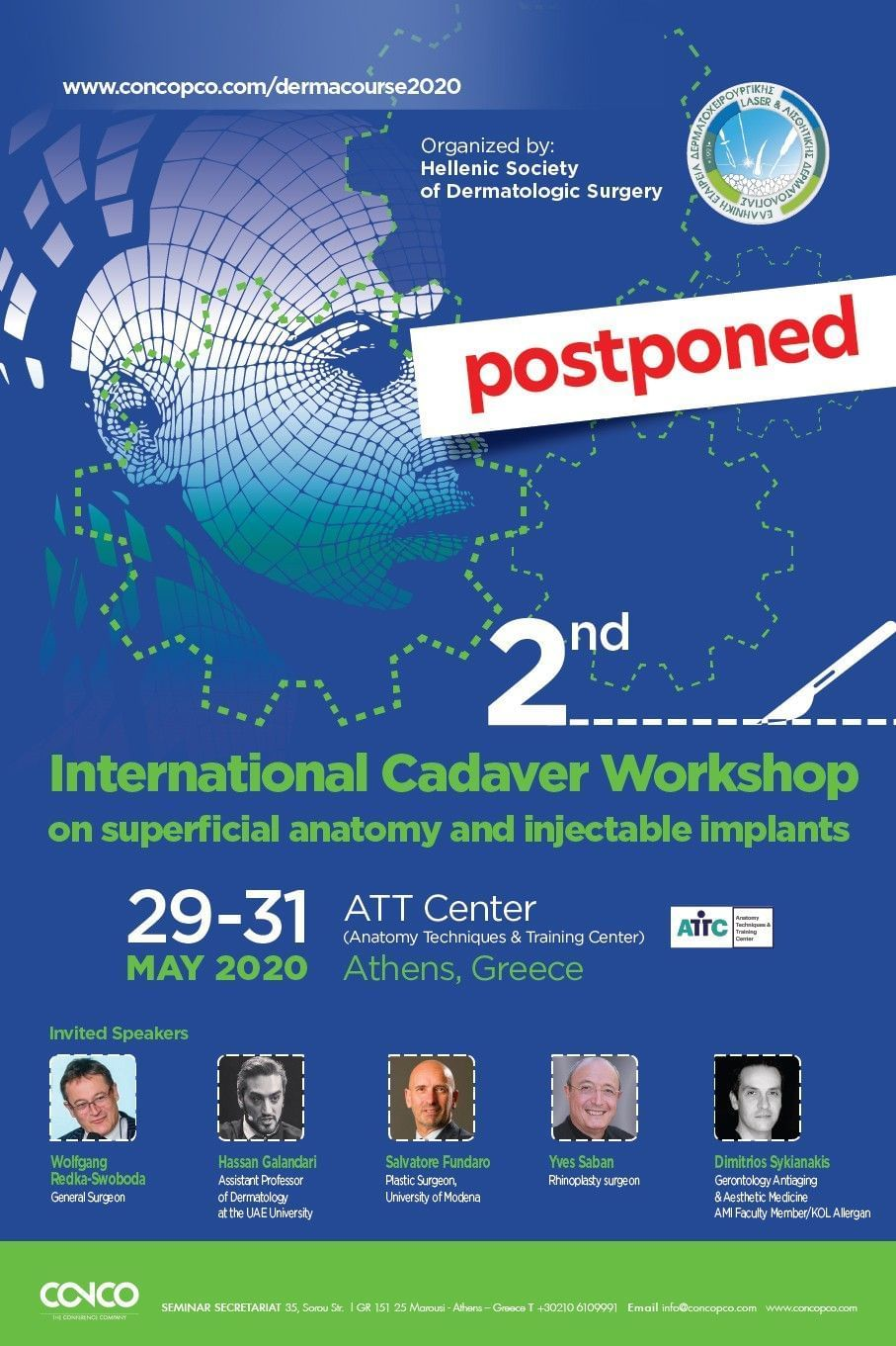 2nd INTERNATIONAL CADAVER WORKSHOP ON SUPERFICIAL ANATOMY AND INJECTABLE IMPLANTS