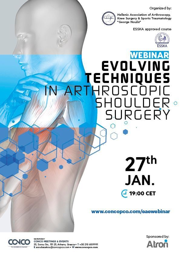 WEBINAR: EVOLVING TECHNIQUES IN ARTHROSCOPIC SHOULDER SURGERY